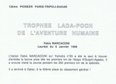 PREMIO LADA - PARIGI DAKAR 1990